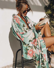 Load image into Gallery viewer, MINT Floral Duster