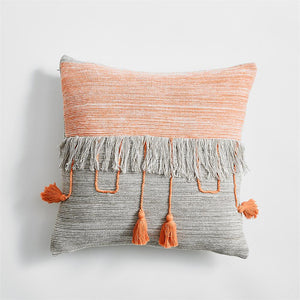 Peach Tassel Pillowcase