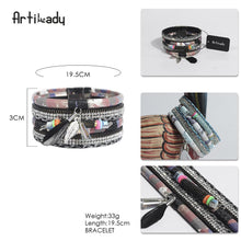 Load image into Gallery viewer, Feather Bead Bangle