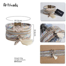 Load image into Gallery viewer, Crystal Tassel Bangle