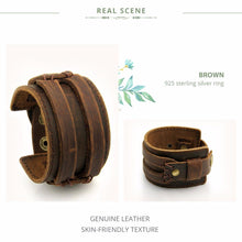 Load image into Gallery viewer, Unisex Leather Cuff