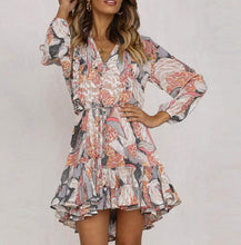 Load image into Gallery viewer, Silky Ruffle Dress