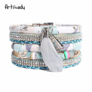Feather Bead Bangle