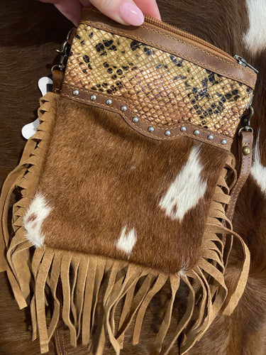 American Darling Brown Hide Crossbody