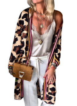 Cheetah+Stripe Duster