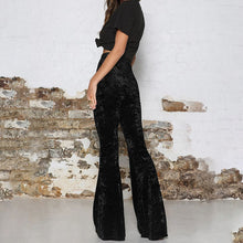 Load image into Gallery viewer, Vintage BOHO Velvet Long Flare Pants