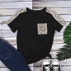 Sequined Pocket Tee