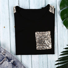 Load image into Gallery viewer, Sequined Pocket Tee