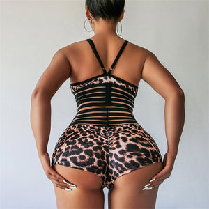 Leopard Plus Size Suit