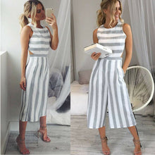 Load image into Gallery viewer, Wide Leg Striped Pantsuit