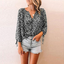 Load image into Gallery viewer, BoHo Tie Sleeve Top