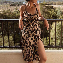 Load image into Gallery viewer, Spaghetti Leopard Dress