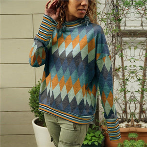 Fall Argyle Sweater