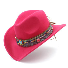 Load image into Gallery viewer, Jazz Cowgirl Fashion Cowboy Hat