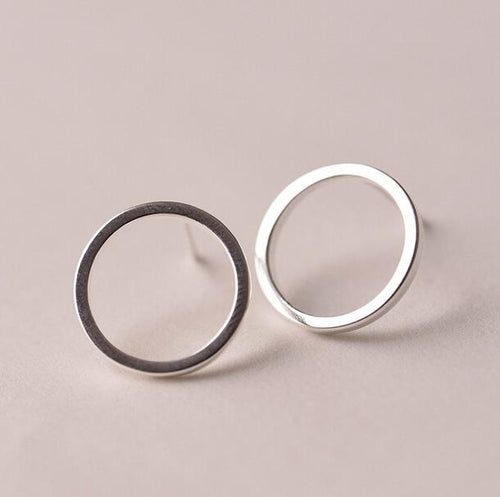 New Sterling Silver Circle Earrings