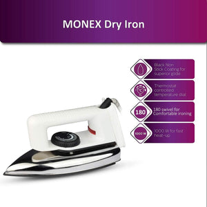 Light Weight Dry Iron 1000 Watt ( 1 year Warranty )