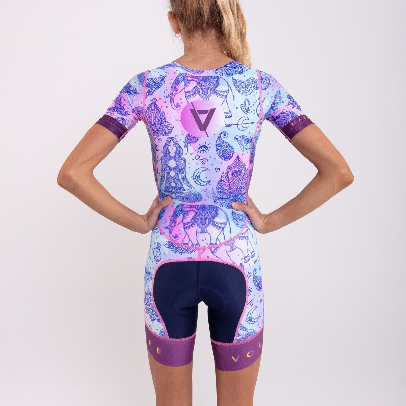 Volare Womens Hippie Sleeved Tri Suit