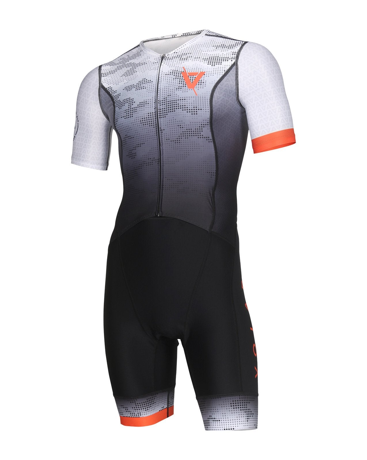 Volare Mens Camo Orange Sleeved Aero Tri Suit