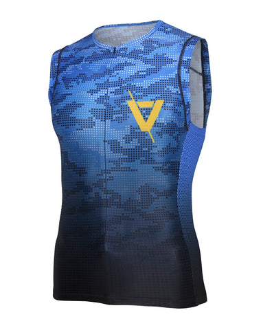 Volare Mens Camo Sleeveless Tri Top
