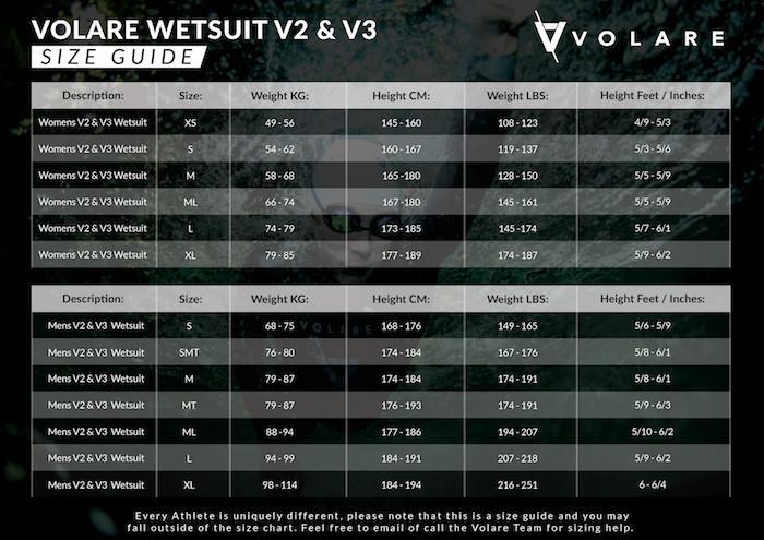 Sleeveless Triathlon Wetsuit Size Guide