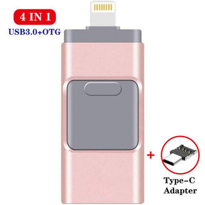 USB flash drive for iPhone series and Android pen drive 4 in 1