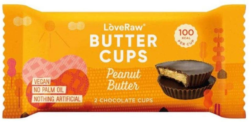 Loveraw Vegan Chocolate Butter Cups 18 x 34g