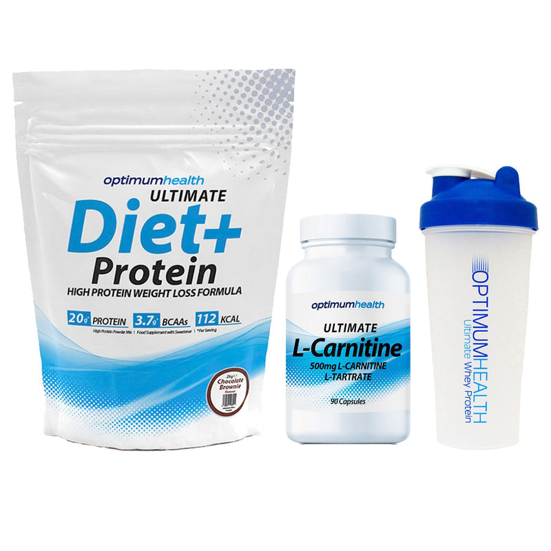 Optimum Health Diet+ Protein 2kg + L-Carnitine + Shaker