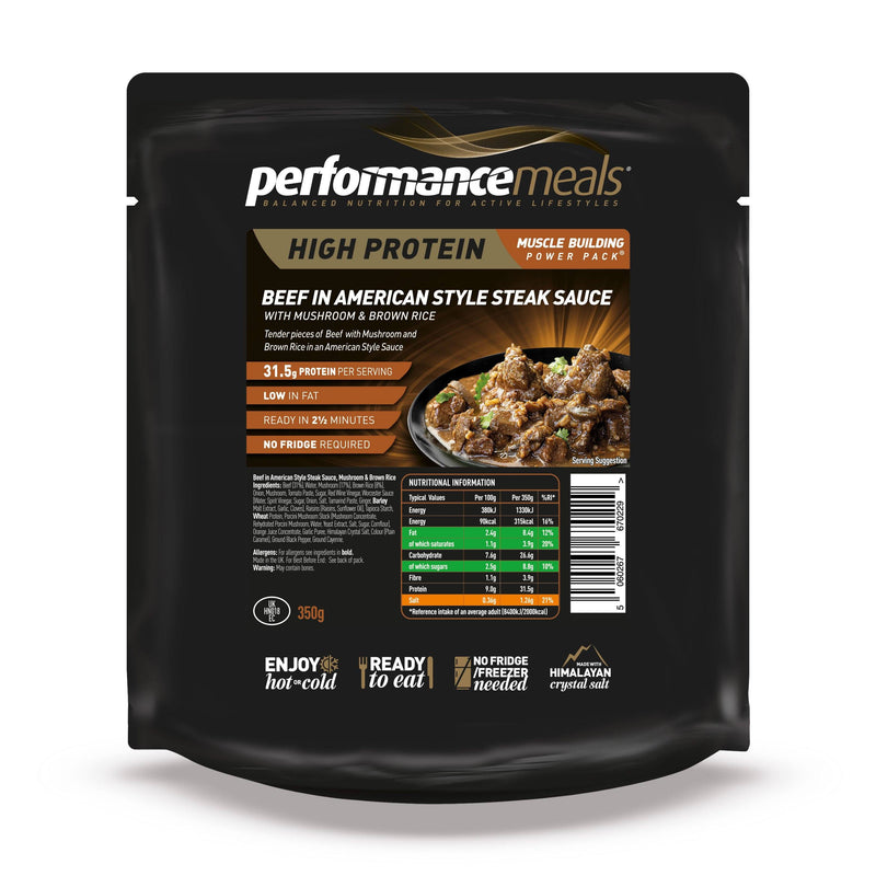 Performance Meals 350g Beef in American Steak Style Sauce