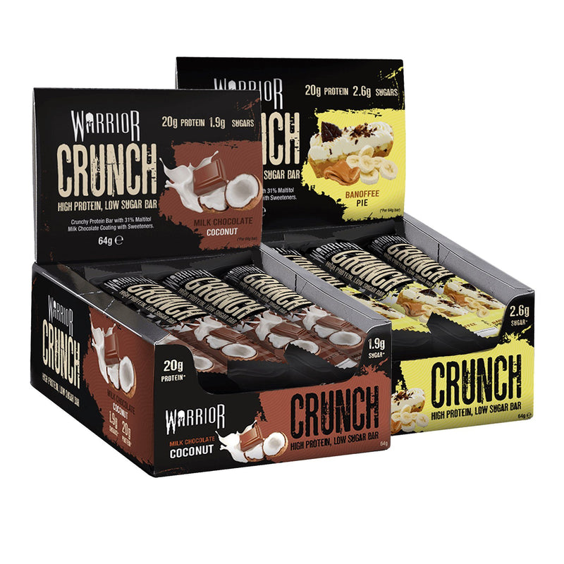 2 Boxes of Warrior Crunch Bars 12 x 64g