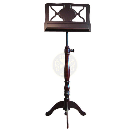 Amadeus Music Stand In Dark Satin Mahogany