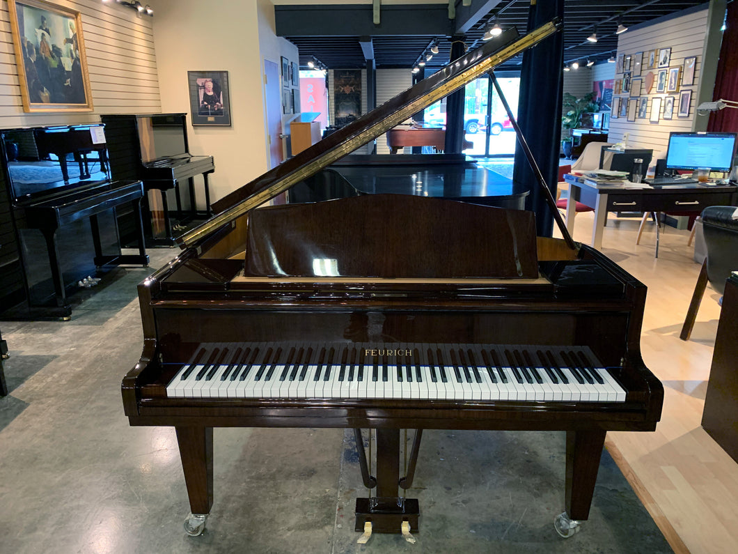 Restored Feurich Baby Grand Model 160 Serial Number 33611 in High Polish Mahogany