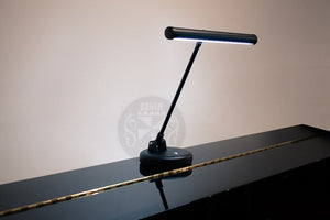 Gemini LED Lamp For Upright Piano In Black