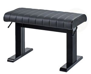 "Omega 26"" Long Pneumatic Designer Concert Bench In Genuine Leather"