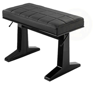 "Pure 26"" Long Pneumatic Concert Bench In Polished Ebony"