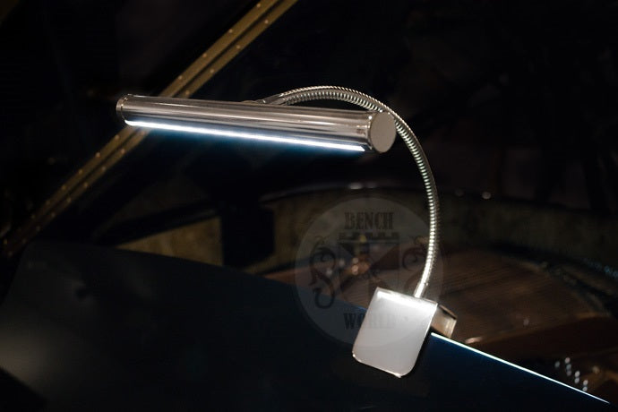 Scorpio LED Clip On Grand Piano Lamp In Chrome