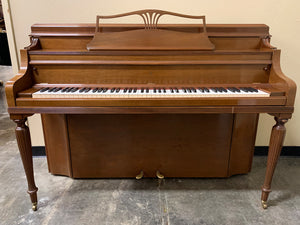 "1976 Steinway Model F 42"" Upright Piano in Satin Walnut"