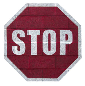 A cinder block wall that wants to be a stop sign - Nolan Haan