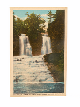 Load image into Gallery viewer, Twin Falls, Lower Hector on Seneca Lake, Watkins Glen New York. Unused Postcard Circa 1915-1930