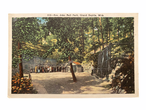 Zoo, John Ball Park, Grand Rapids Michigan. Unused Postcard Circa 1915-1930