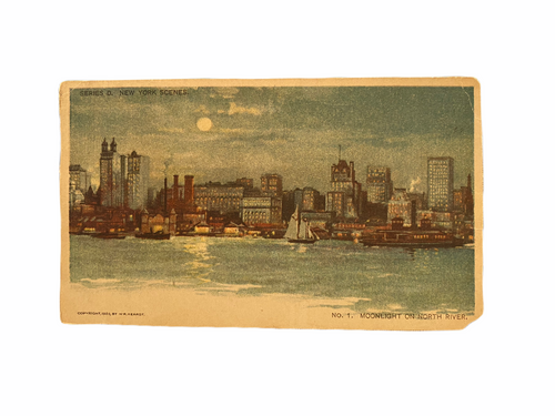 Moonlight on North River Published by Printing Mogul William Randolph Hurst in 1903, Unused