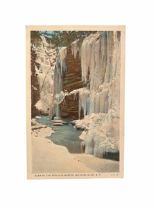Glen of the Pools in Winter, Watkins Glen New York. Unused Postcard Circa 1915-1930