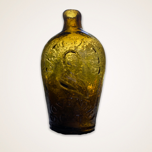 """Lafayette"" And Bust - Liberty Cap Portrait Flask"
