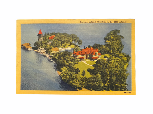 Calumet Island, Clayton, N.Y. — 1000 Islands. Linen Era Postcard (1930-1945) Unused