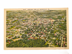 Airplane View of Gainesville Georgia. Unused Postcard Circa 1930-1944