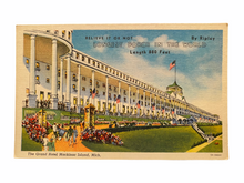 Load image into Gallery viewer, The Grand Hotel Mackinac Island, Michigan. Longest Porch in The World. Unused Linen Postcard Circa 1930-1944