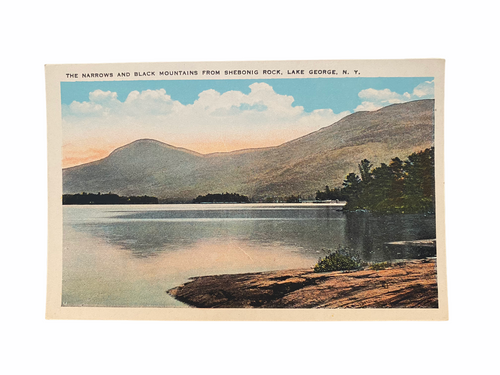 The Narrows and Black Mountains From Shebonig Rock, Lake George, N.Y. Postcard Unused