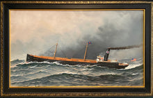 Load image into Gallery viewer, Ogeechee Steam Ship (Hoboken, NJ 1909) - Antonio Nicolo Gasparo Jacobsen