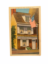 Load image into Gallery viewer, Betsy Ross House, Philadelphia, PA. Unused Linen Postcard Circa 1930-1944