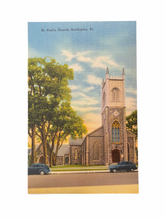 Load image into Gallery viewer, St. Paul Church, Burlington Vermont. Unused Linen Postcard Circa 1930-1944