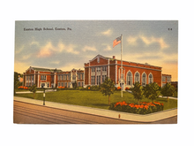 Load image into Gallery viewer, Easton High School, Easton Pennsylvania. Unused Linen Postcard Circa 1930-1944